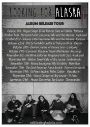 Looking for Alaska Tour Poster